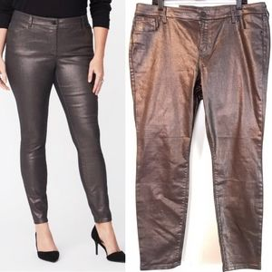 18 Old Navy Metallic Rockstar Super Skinny JeanNWT